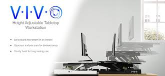 amazon com vivo height adjustable standing desk monitor riser