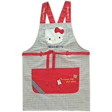 tablier de cuisine hello bodecin plaid hello japanese kitchen apron