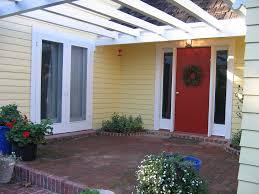 bm heritage red front door glidden jonquil yellow house u2026 flickr