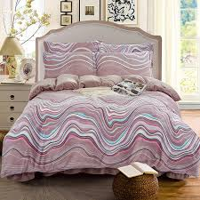 Plaid Bed Set 4pcs Flannel Printed Fringe Rhythm Plaid Bedding Set