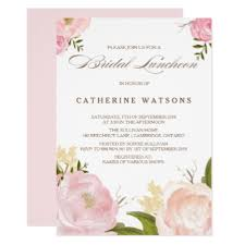 wedding luncheon invitations shabby chic vintage bridal shower invitation bling zazzle
