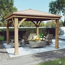 Outdoor Patio Canopy Gazebo Metal Roof Gazebo Aluminum Cedar X For Wood Deck Canopy Outdoor