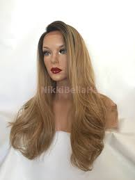 curl in front of hair pic ash blonde human multi parting hair blend 22 loose curl lace