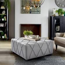 Silver Table Ls Living Room Ottomans