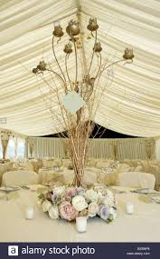 vertical wedding reception table flower decoration display or