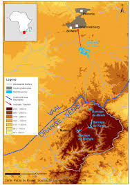 Lesotho Map Upstream Flows Of Water From The Lesotho Highlands To