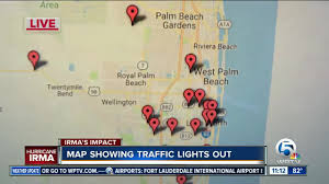 Palm Beach Map Map Shows Major Intersections Without Traffic Lights Wptv Com