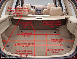 2014 jeep grand cargo dimensions jeep grand wj cargo area dimensions