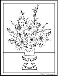 shining flower vase coloring page easter flower coloring pages