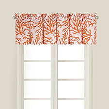 Coral Valance Curtains Amazon Com Seashore Coral Window Curtain Valance In Blue Perfect