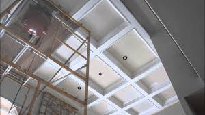 Coffered Ceiling Lighting by Coffered Ceiling Youtube