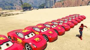 mobil balap mobil balap kartun mcqueen transportasi dan spiderman mobil balap