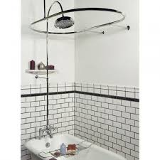 Showers And Tubs For Small Bathrooms Bathroom Wainscoting Panels With Clawfoot Tub Shower Kit For