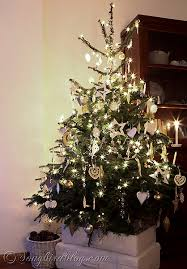 white silver and gold tree