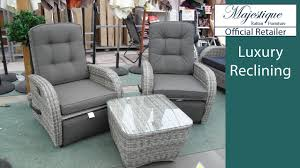 reclining garden furniture reclining rattan chairs sofas and