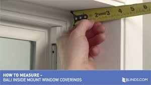 bali blinds how to measure windows for inside mount window
