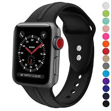 silicone strap bracelet images Apple watch band silicone 38mm sundo replacement wrist jpg