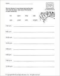 bronco buster and the bank robbers word usage u2013 writing worksheet