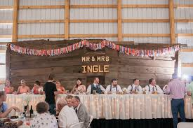 wedding backdrop letters marquee letters fabric garland barn wood table