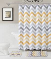 Sonia Bathroom Accessories by Amazon Com 3 Pc Bath Set Shower Curtain And 2 Mats Chevron Zig