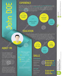 Vita Resume Example by Modern Curriculum Vitae Resume Template With Ribbon Stock Vector