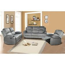 Sectional Reclining Sofa With Chaise Blue Grey Microfiber Power Reclining Sofa Couch Loveseat Motion