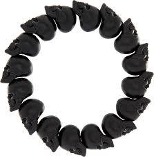 black bead skull bracelet images Lyst alexander mcqueen skull bead bracelet for men in black jpeg
