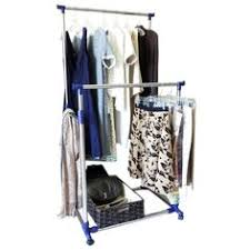 collapsible clothes rack with wheels holds 250 pounds item