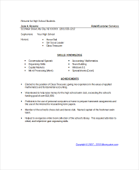 exle resume for high school student 9 student resume templates pdf doc free premium templates