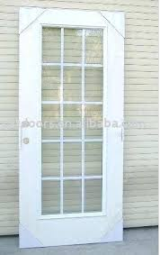 Exterior Door Window Inserts Exterior Door With Glass Craftsman 6 Lite Stained Mahogany Wood