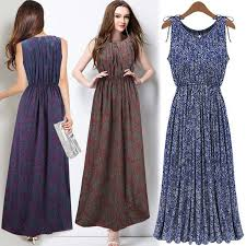 plus size floral print dresses for women bohemian long womens