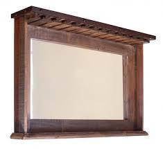 international furniture direct 900 antique ifd967mir bar rustic