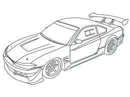 coloring pages drifting cars heels modified car pencil and in color heels