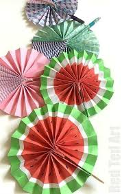 how to make a paper fan diy paper fan melon fans water melon pretty patterns and