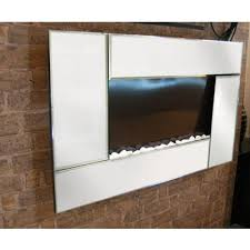 Home Depot Wall Mount Fireplace by Modern Homes Electric Wall Mounted Fireplace Beveled Edge