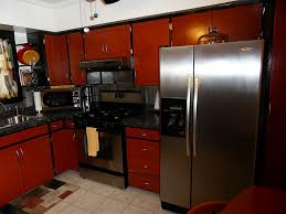 Red And Black Kitchen Cabinets by Dark Cherry Wood Kitchen Cabinets Contemporary Kitchen Cabinets
