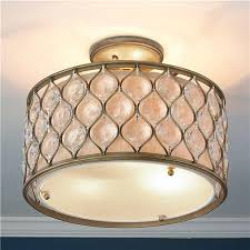 Drum Pendant Chandelier With Crystals Crystal Drum Chandelier The Aquaria