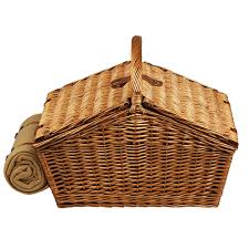 Picnic Basket Ideas At Ascot Huntsman English Style Willow Picnic Basket With Service