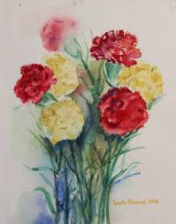 carnation flowers carnation flowers still painting by geeta biswas