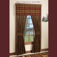 Rustic Curtains And Valances Montana Morning Rustic Window Treatment