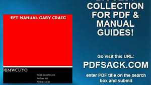 eft manual gary craig video dailymotion