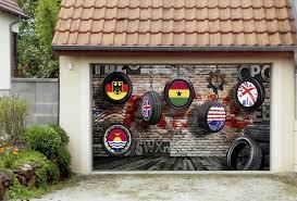 3d hanging tires 4 garage door murals wall print decal wall deco
