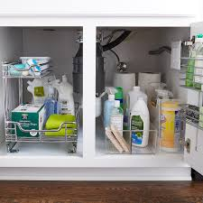 kitchen sink cabinet caddy sink organization starter kit