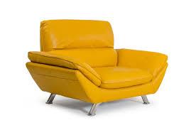 Orange Leather Chair Divani Casa Daffodil Modern Yellow Italian Leather Sofa Set