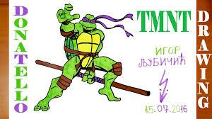 draw donatello teenage mutant ninja turtles tmnt easy