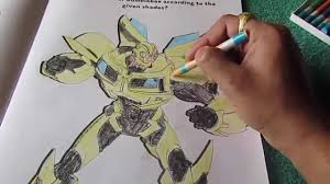 bumblebee transformers prime let u0027s color time lapse video by