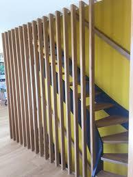 garde corps bois escalier interieur escalier design droit et 1 4 tournant avec garde corps en claire voie