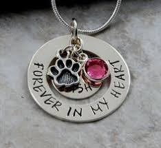 pet memorial necklace a few tears were shed this special necklace not after