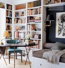 Bookcase Backdrop Corner Office With Built In Bookcase Backdrop And Reading Nook