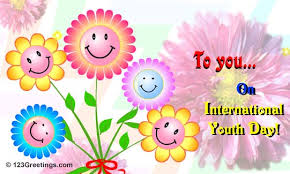 Smiley Flowers - 32 best international youth day 2016 wish pictures